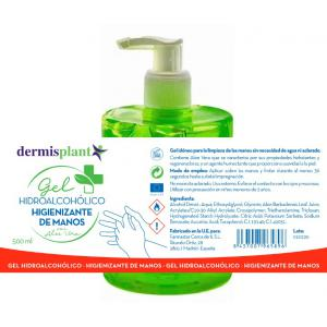 GEL HIDROALCOHOLICO desinfectante de manos 500ml.